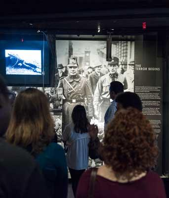 Students from the Carter School take a tour of the Holocaust Museum in Washington, D.C. The nation's capital is rich in learning resources, while also being a hub for peace-building activities and policy building.